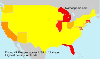 Surname Geagea in USA