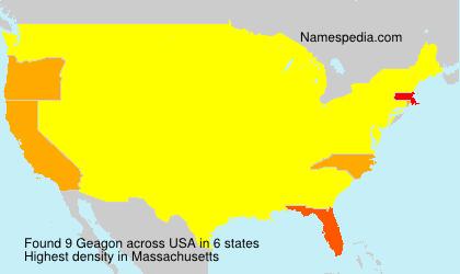 Surname Geagon in USA