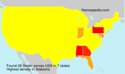 Surname Geahr in USA