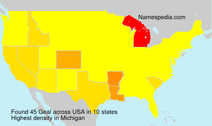 Surname Geal in USA
