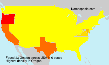 Surname Gealon in USA