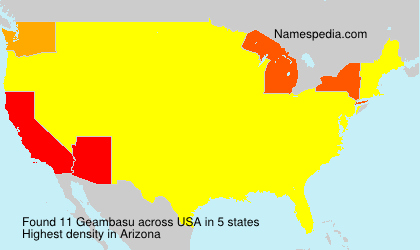 Surname Geambasu in USA