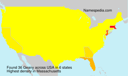 Surname Geany in USA
