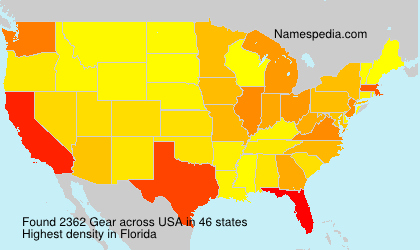Surname Gear in USA
