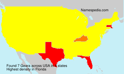 Surname Geara in USA