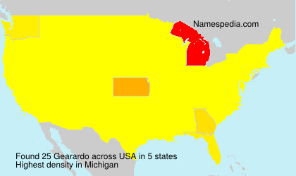 Surname Gearardo in USA