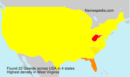 Surname Gearde in USA