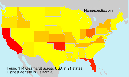 Surname Gearhardt in USA