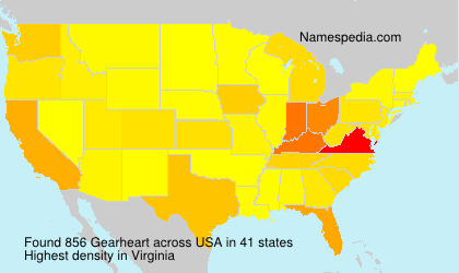 Surname Gearheart in USA