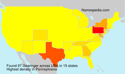 Surname Gearinger in USA