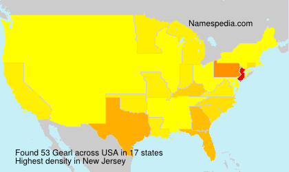 Surname Gearl in USA