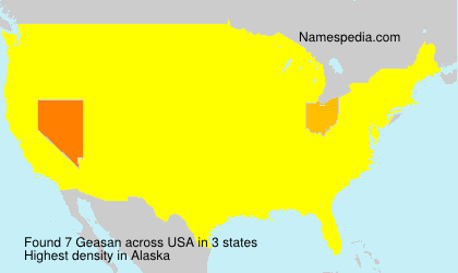 Surname Geasan in USA