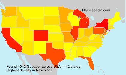 Surname Gebauer in USA