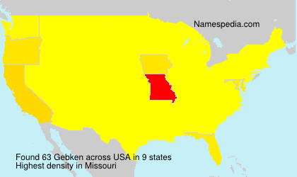 Surname Gebken in USA
