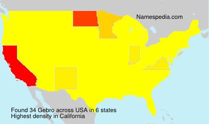 Surname Gebro in USA