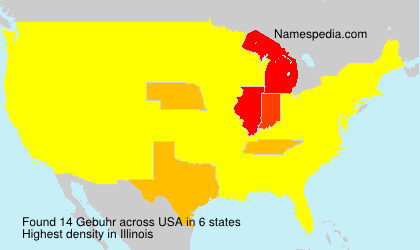Surname Gebuhr in USA
