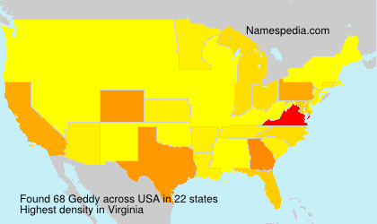 Surname Geddy in USA