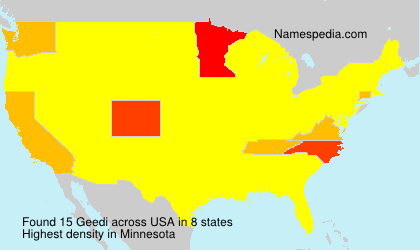 Surname Geedi in USA