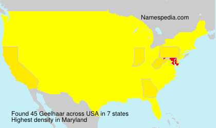 Surname Geelhaar in USA