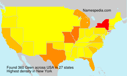 Surname Geen in USA