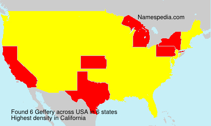Familiennamen Geffery - USA