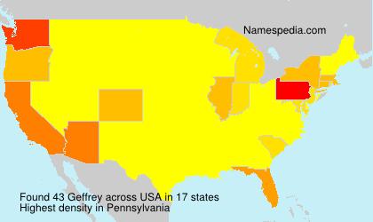 Surname Geffrey in USA