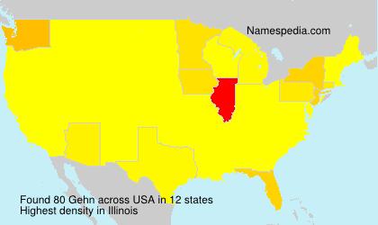 Surname Gehn in USA