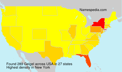 Surname Geigel in USA