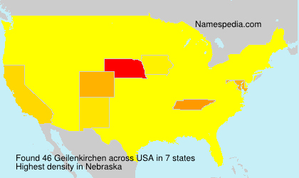 Surname Geilenkirchen in USA