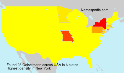 Surname Geiselmann in USA
