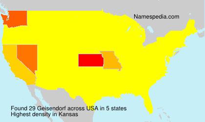 Familiennamen Geisendorf - USA