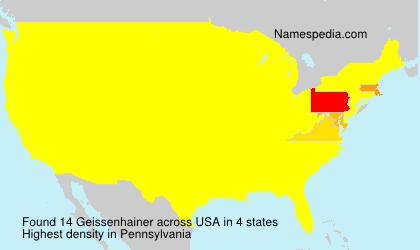 Familiennamen Geissenhainer - USA