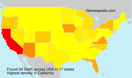 Familiennamen Geith - USA