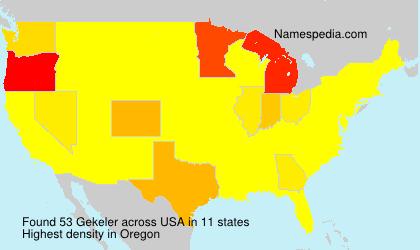 Surname Gekeler in USA