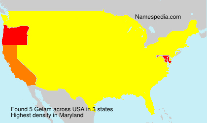 Surname Gelam in USA