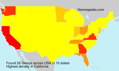 Surname Gelaye in USA