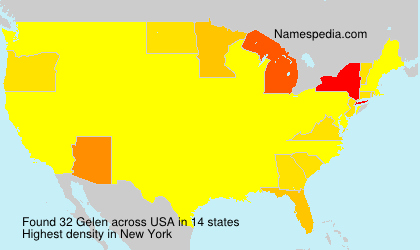 Surname Gelen in USA