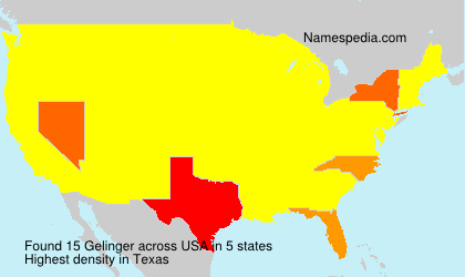 Familiennamen Gelinger - USA