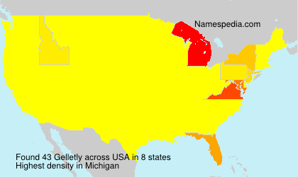 Surname Gelletly in USA