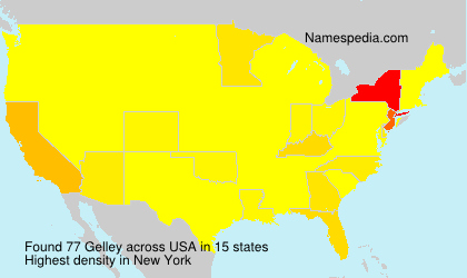 Surname Gelley in USA