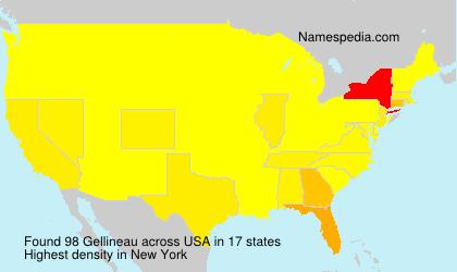 Familiennamen Gellineau - USA