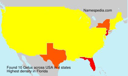 Familiennamen Gelus - USA
