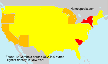 Surname Gembola in USA