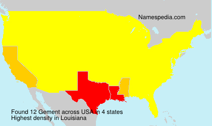 Surname Gement in USA