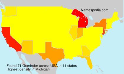 Surname Geminder in USA
