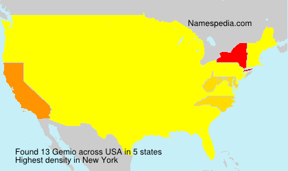 Familiennamen Gemio - USA