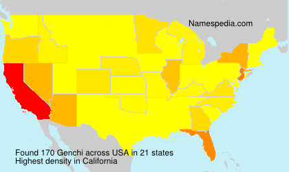 Surname Genchi in USA