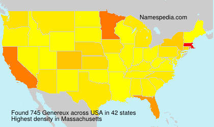 Surname Genereux in USA