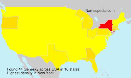 Surname Genesky in USA