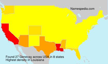 Surname Genevay in USA